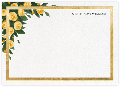 Teablossom (Stationery) - Gold/Yellow | null
