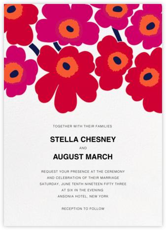 Unikko (Invitation) - Red - Marimekko - Marimekko cards and stationery