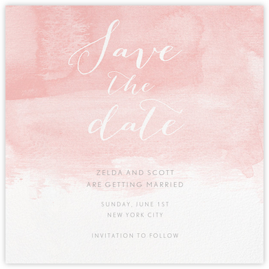 Color Wash (Save the Date) - Pavlova - Paperless Post - Save the dates