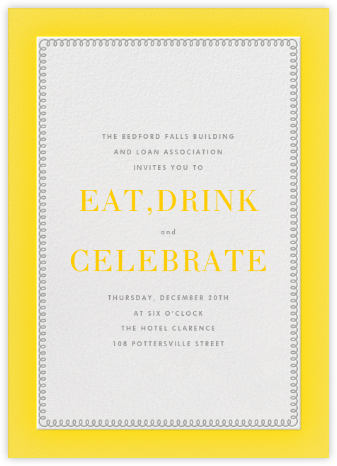 Bold Line - Yellow - The Indigo Bunting - Business event invitations