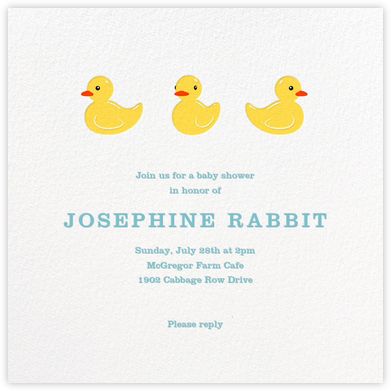 Rubber Duckies - Paperless Post - Baby Shower Invitations