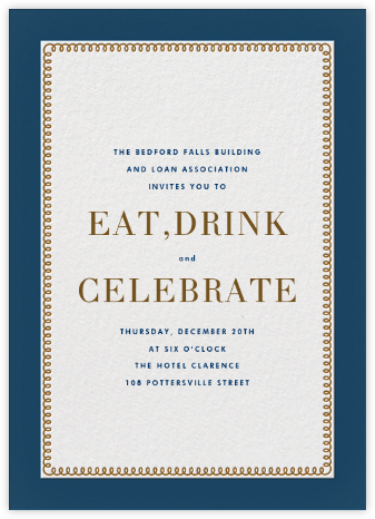 Bold Line - Blue - The Indigo Bunting - Event invitations
