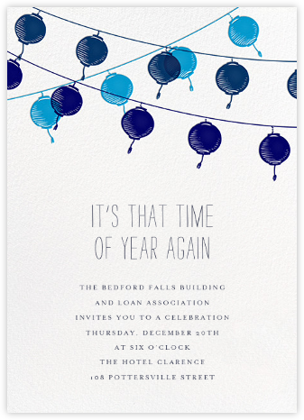 Lanterns - Blue - Paperless Post - Business event invitations