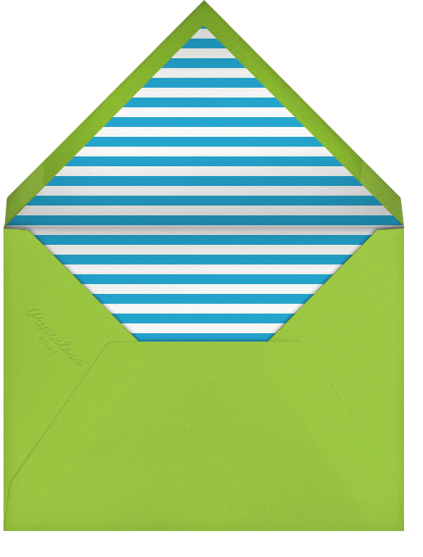 Hand Drawn Chevrons - Persian Green Charterhouse - Paperless Post - Reception - envelope back