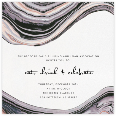 Marbleized - Kelly Wearstler - Business Party Invitations
