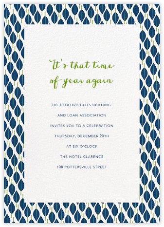 Mille Feuille - Dark Blue - Paperless Post - Reception invitations