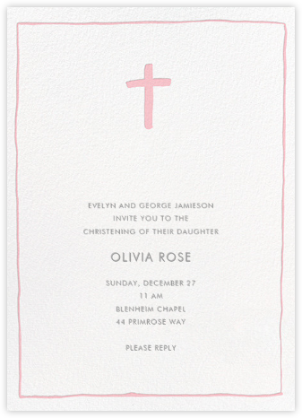 Crux Emblem - Pavlova - Linda and Harriett - Baptism invitations