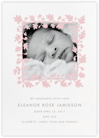 Ficus Photo (Announcement) - Pavlova - Linda and Harriett - Birth Announcements