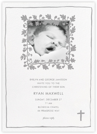 Ficus Photo (Invitation) - Linda and Harriett - Christening Invitations