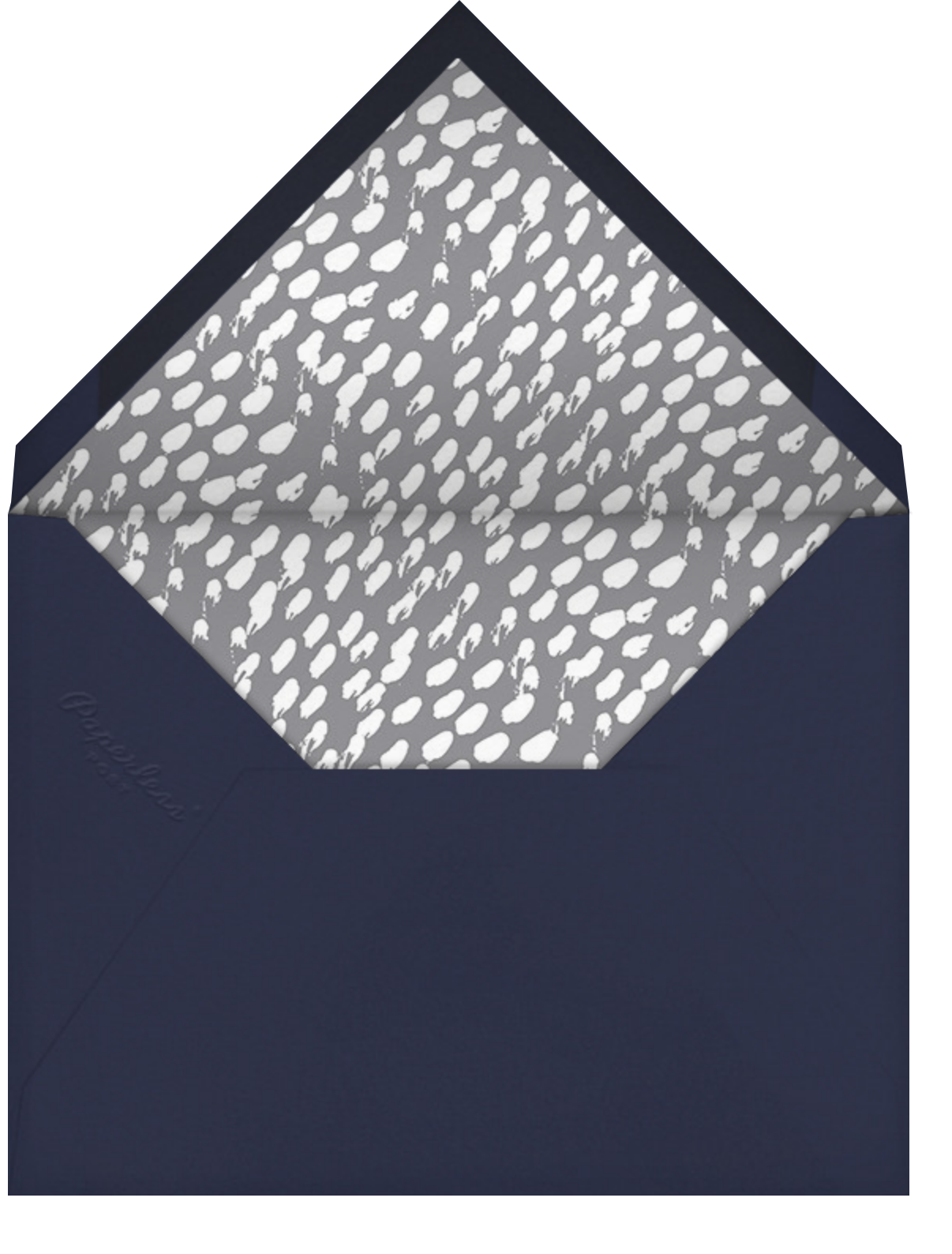 Magen Emblem - Dark Blue - Linda and Harriett - Virtual parties - envelope back