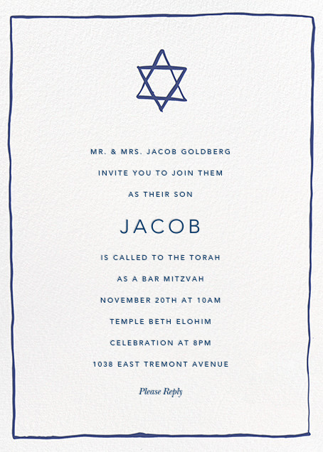 Bar mitzvah and bat mitzvah invitations online at Paperless Post