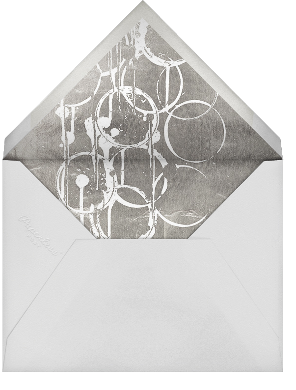 Bottle Shock - Teal/Silver - Kelly Wearstler - Reception - envelope back