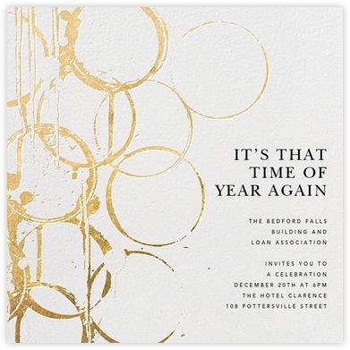 Bottle Shock - Gold - Kelly Wearstler - Reception invitations