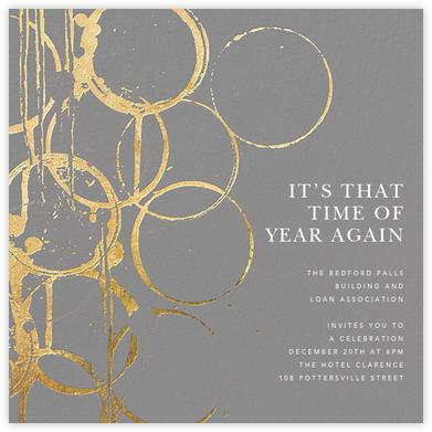 Bottle Shock - Gray/Gold - Kelly Wearstler - Business event invitations