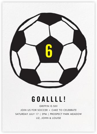Play Ball - Black - Linda and Harriett - Online Kids' Birthday Invitations