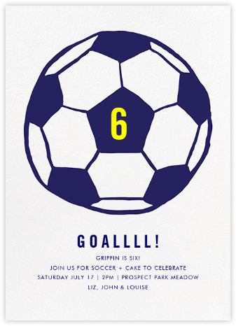 Play Ball - Royal Blue - Linda and Harriett - Online Kids' Birthday Invitations