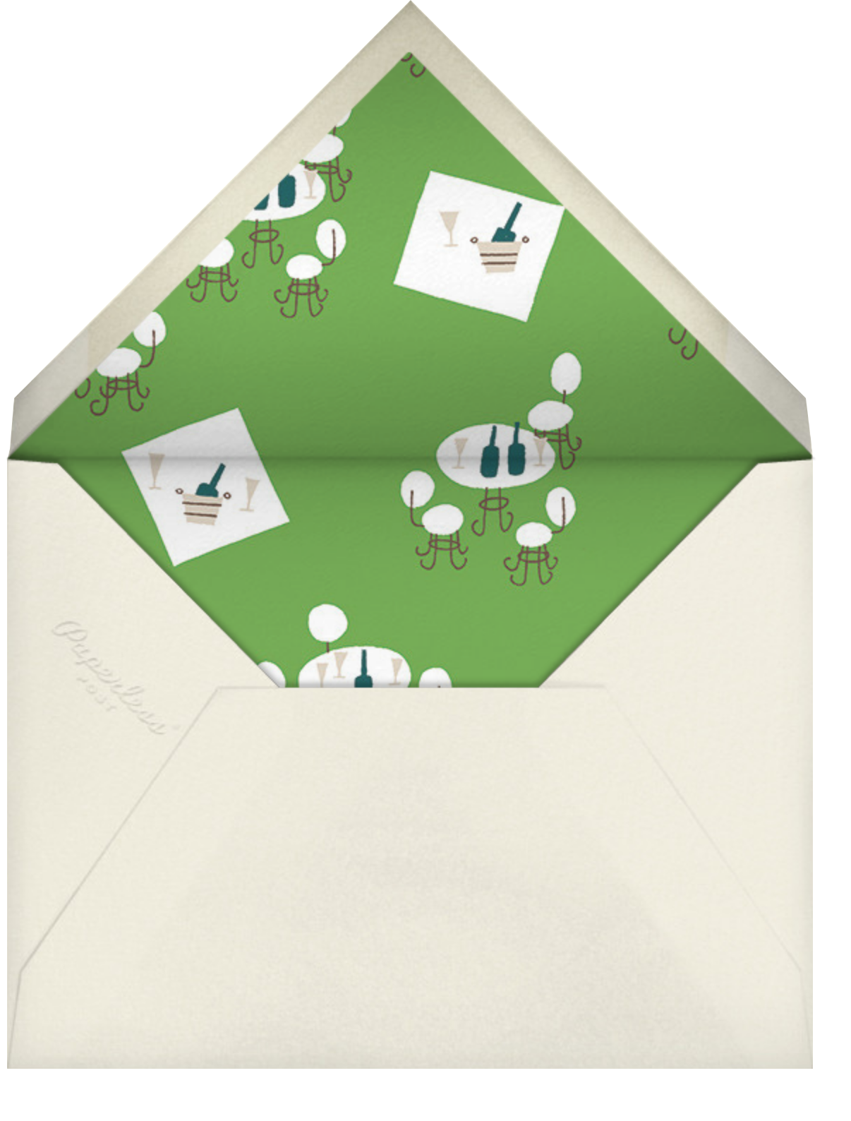 Lawn Story - Paperless Post - Spring entertaining - envelope back