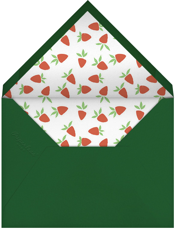 Strawberries and Cream - Paperless Post - Spring entertaining - envelope back