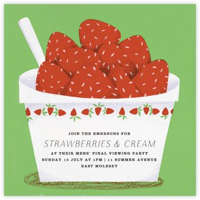 Strawberries and Cream - Paperless Post - Summer Party Invitations