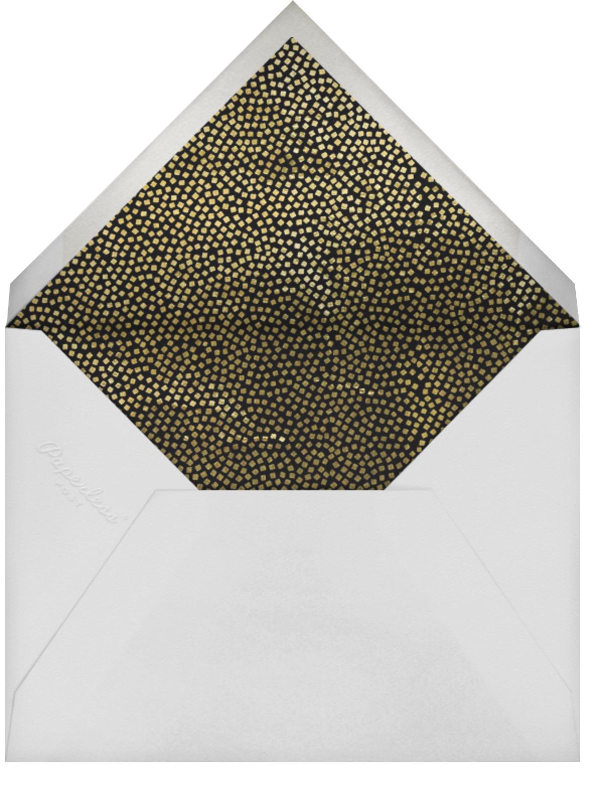 Konfetti (Photo Save the Date) - Gold - Kelly Wearstler - Photo  - envelope back