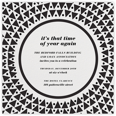 Radial Triangles - Black - Paperless Post - Business event invitations