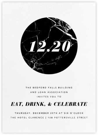 Marble Circle - Black - Paperless Post - Business event invitations