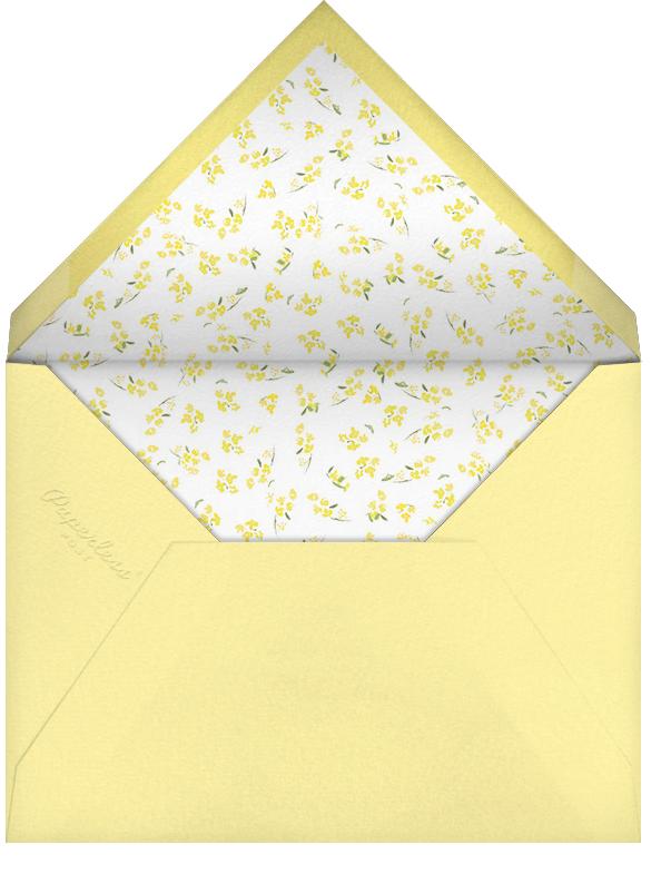 Heathers (Invitation) - Yellow - Paperless Post - Bridal shower - envelope back