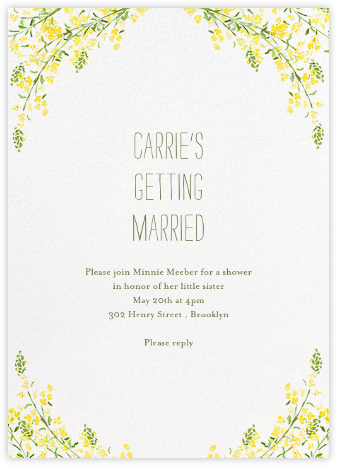 Heathers (Invitation) - Yellow - Paperless Post - Bridal shower invitations