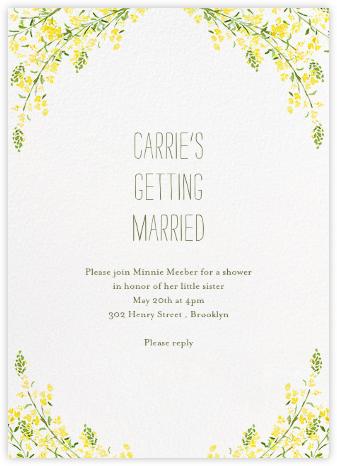 Heathers (Invitation) - Yellow - Paperless Post -
