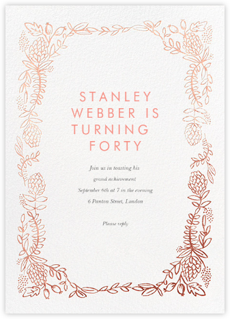 Botanical Lace - Rose Gold - Rifle Paper Co. - Milestone birthday invitations