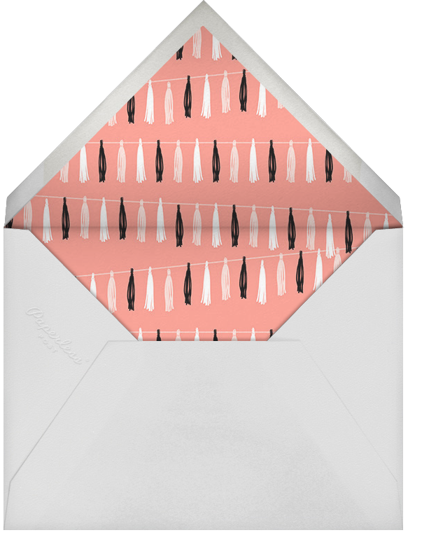 Tasseled II (Photo) - Rose Gold - Paperless Post - Adult birthday - envelope back