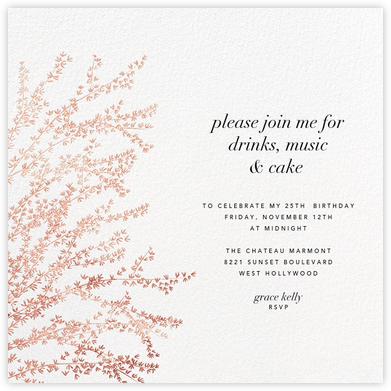 Forsythia - Rose Gold - Paperless Post - Adult birthday invitations