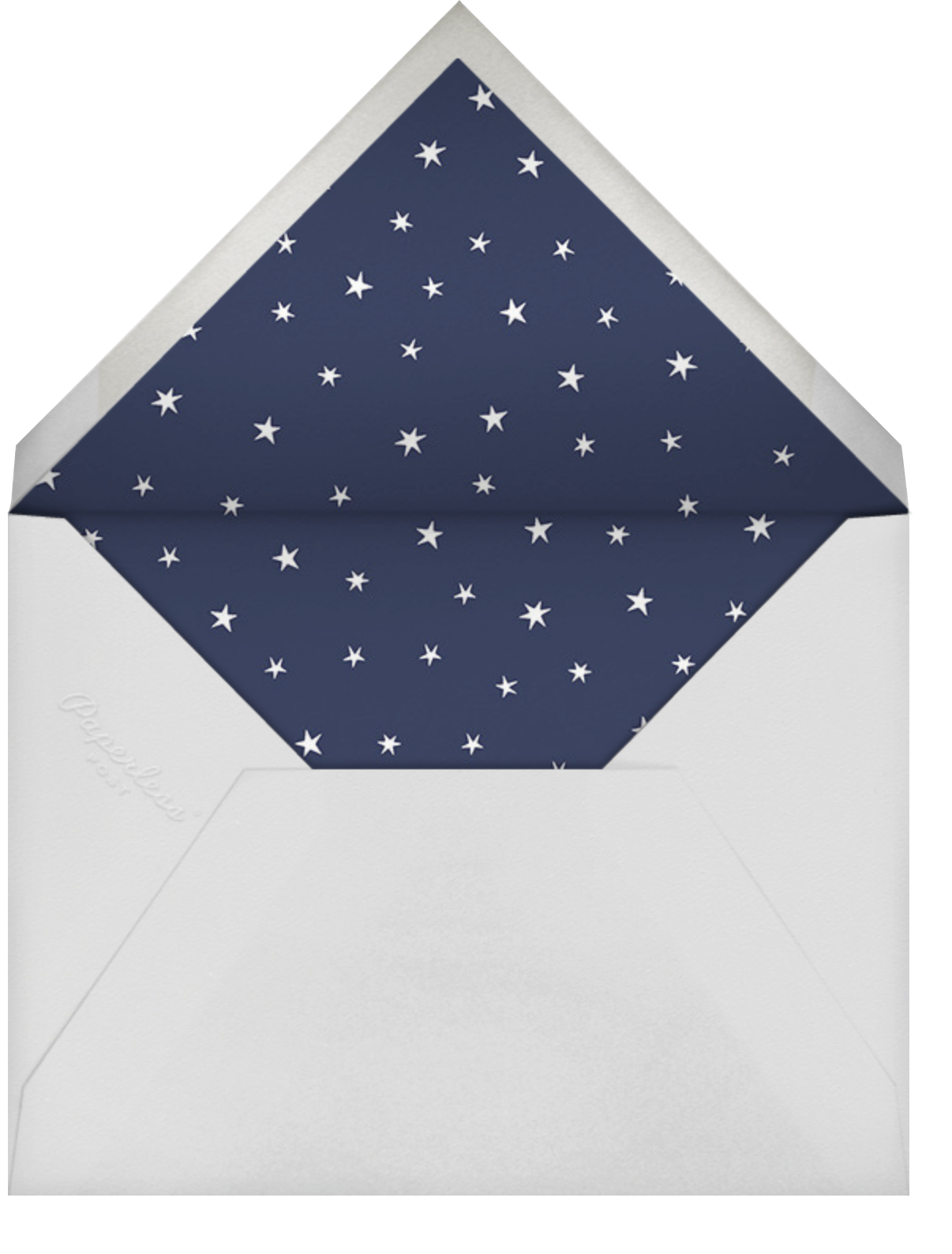 Nightly (Tall) - Navy/Silver - Paperless Post - Bat and bar mitzvah - envelope back