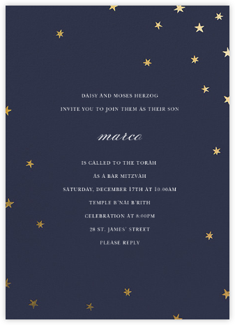 Nightly (Tall) - Navy/Gold - Paperless Post - Religious invitations