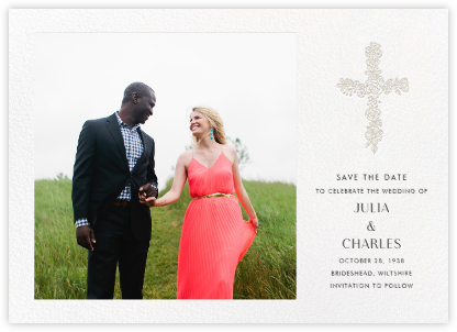 Thérèse II (Photo Save the Date) - White - Paperless Post -