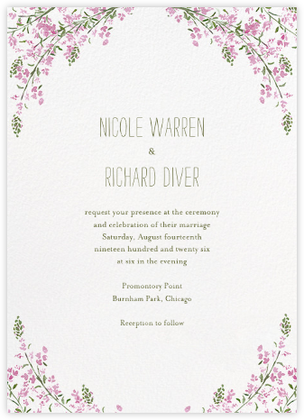 Heathers (Invitation) - Lilac - Paperless Post - Wedding Invitations