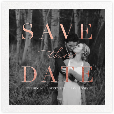 Remnant (Photo) - Rose Gold - Paperless Post - Photo save the dates