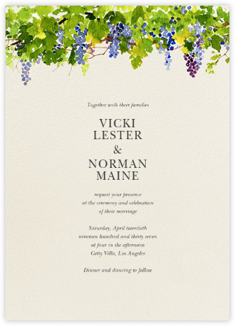 Napa - Felix Doolittle - Wedding Invitations