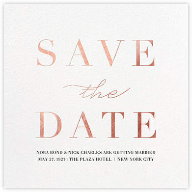 Remnant - Rose Gold - Paperless Post - Save the dates