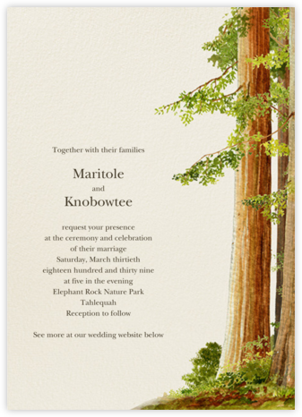 Sequoia - Felix Doolittle - Wedding Invitations