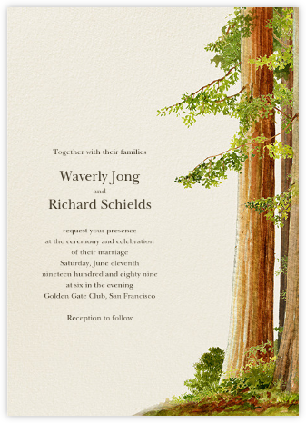 Sequoia - Felix Doolittle - Destination wedding invitations