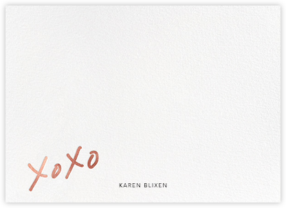 With Hugs and Kisses (Stationery) - Rose Gold - Linda and Harriett - Personalized Stationery