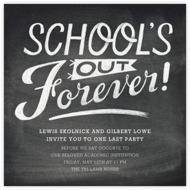 School's Out - Paperless Post - Celebration invitations