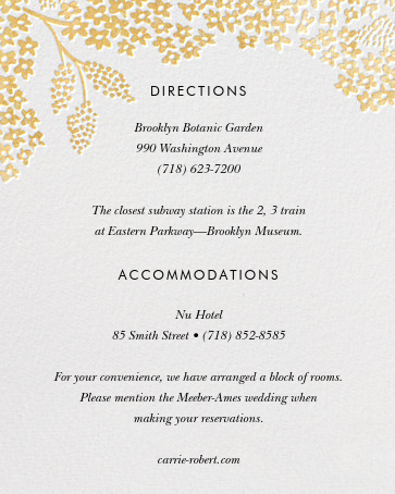 Heather and Lace (Photo Invitation) - Gold - Rifle Paper Co. - All - insert front