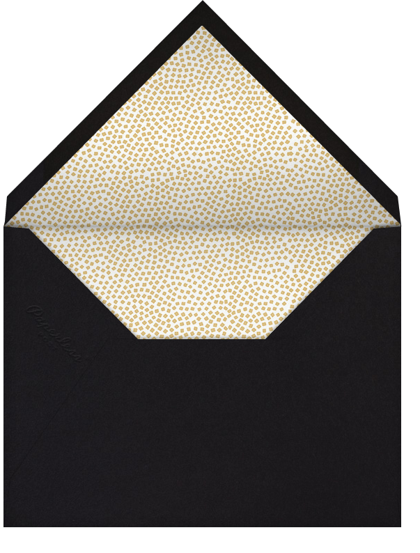 Konfetti (Tall Photo Invitation) - Gold - Kelly Wearstler - All - envelope back