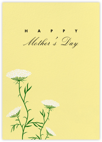Queen Anne's Lace (Greeting) - Pale Yellow - Paperless Post - Mother's Day Cards