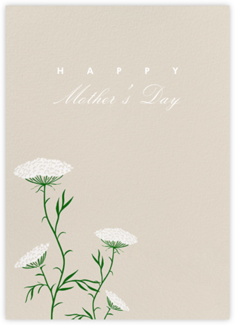 Queen Anne's Lace (Greeting) - Santa Fe - Paperless Post - Mother's Day Cards