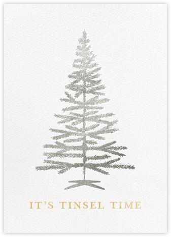Tinsel Time (Greeting) - Silver - kate spade new york