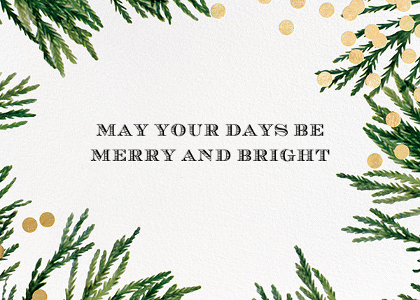 Confetti Branches (Greeting) - Gold - kate spade new york - Holiday cards
