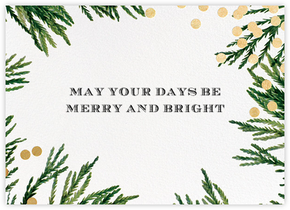 Confetti Branches (Greeting) - Gold - kate spade new york - Christmas Cards